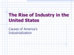 The Rise of Industry in the United States