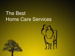 The best  home care services