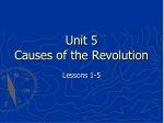 Unit 5 Causes of the Revolution