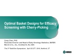 Optimal Basket Designs for Efficacy Screening with Cherry-Picking