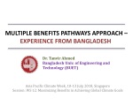 MULTIPLE BENEFITS PATHWAYS APPROACH – EXPERIENCE FROM BANGLADESH