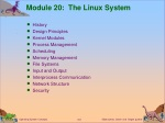Module 20: The Linux System