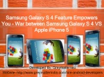 Samsung Galaxy S 4 Feature Empowers You