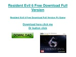 Resident Evil 6 Download Full Version