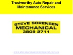 Trustworthy Auto Repair and