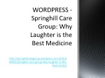WORDPRESS - Springhill Care Group: Why Laughter is the Best