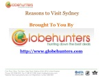 Cheap Flights to Sydney with Globehunters