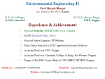 Environmental Engineering-II Prof. Rajesh Bhagat Asst. Professor, CED, YCCE, Nagpur