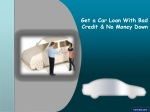 Get Car Loans With Bad Credit