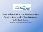How to Determine the Best Merchant Service Solution for Your
