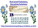 Rust proof Solutions, Derusting Solutions