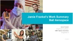 Jamie Frankel's Work Summary Ball Aersopace