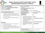 PROJECT : training & CAPACITY DEVELOPMENT - KETTHA REPORTING PERIOD : 01/06/2015 – 30/06/2015