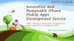 Innovative and Reasonable iPhone Mobile Apps Development Ser
