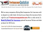 Month To Month Auto Insurance With No Deposit No Credit
