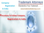 Procedure To Follow Company Registration In India