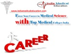 Favor Your Career in Medical Science with Top College