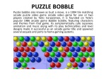Puzzle Bubble Shooter Video Game