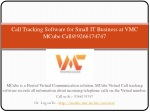 Call Tracking Software for Small IT Business at VMC MCube
