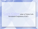 Gary Guion judge in Venture Labs Investment Competition (VLI