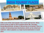 Top 5 Most Popular Places in India for Holiday Trip