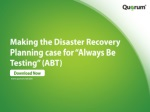 Disaster Recovery Planning from Quorum