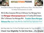 President Obama Mortgage Refinance Plan