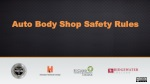 Auto Body Shop Safety Rules
