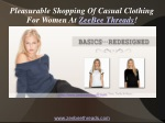Pleasurable Shopping Of Casual Clothing For Women At ZeeBee