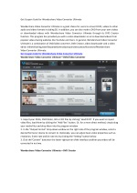 Get Coupon Code for Wondershare Video Converter Ultimate