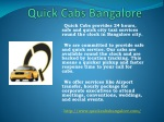 Car Rental Service Bangalore | Quick Cabs Bangalore