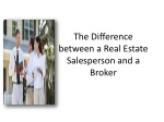 The Difference between a Real Estate Salesperson and a Broke