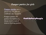 Pamper parties for girls