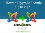 How to Upgrade Joomla 1.5 to 2.5