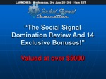 Social Signal Domination Review