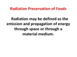 Radiation in Food Preservation: