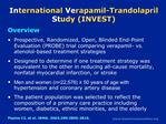 International Verapamil-Trandolapril Study INVEST
