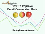How To Improve Email Conversion Rate