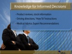 Knowledge for Informed Decisions with Audio