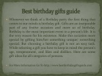 Best birthday gifts guide