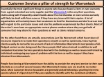 Customer Service a pillar of strength for Warrantech