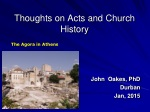 Thoughts on Acts and Church History