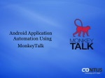 MonkeyTalk Test Automation Framework For Android Application