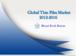 Global Thin Film Market 2012-2016