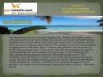 cheap mauritius holidays from india