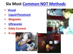 Six Most Common NDT Methods