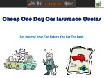 Get Cheap One Day Car Insurance Quotes With No Credit Check