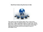 Data Entry Outsourcing Services in India