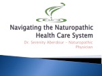 Naturopathic Medicine Helpful in the Treatment