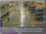 Know more about Concrete Flooring and Finishing